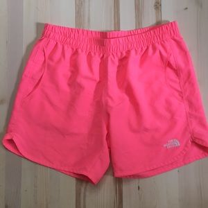 North Face pink shorts *WITH* pockets